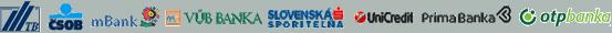 Internet bankingy slovenských bánk