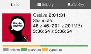 Audiolibrix - Audioknihy, mobilní aplikace, přehledný indikátor stažení a poslouchání