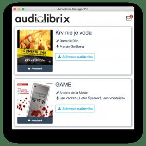 Audiolibrix Manager - Sťahovanie audiokníh