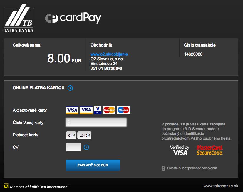 Platobný operátor CardPay