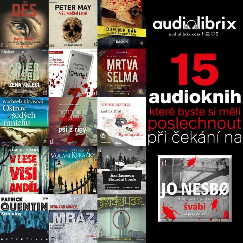 """15 audioknih, které si poslechnout při čekání na audioknihu """"Švábi"""""""