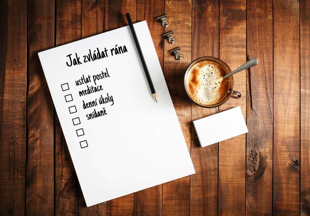 Jak vám ranní rutina pomůže být přes den produktivnější